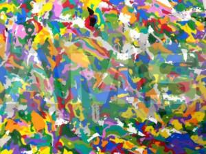 Placa de EVA Mesclado Estampado Colorido