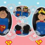 Superman e Mulher Maravilha em E.V.A.